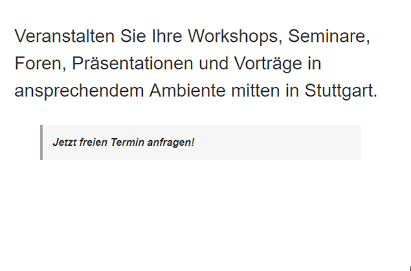 Konferenzräume für  Asemwald (Stuttgart)